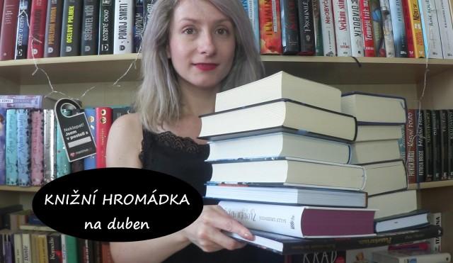knižní hromádka - duben