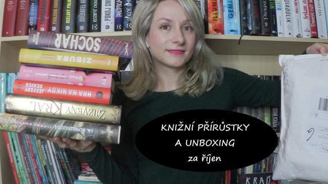 knižní přírůstky a unboxing za říjen
